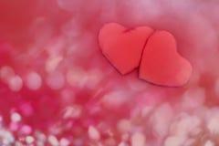 Fond rouge de coeurs Concept de jour de Valentines Photos libres de droits