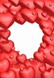 Fond rouge de coeurs d'amour Photographie stock libre de droits