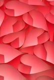 Fond rouge de coeurs de jour de Valentine Photos stock