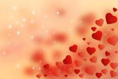 Fond rouge de coeurs de papier peint abstrait Concept heureux de jour de Valentine's Image libre de droits