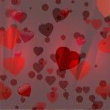 Fond rouge de coeurs de Valentine Photo stock