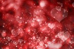 Fond rouge de coeurs Jour de Valentine Photos libres de droits