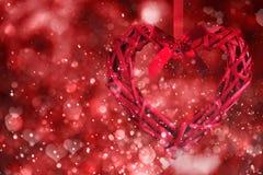 Fond rouge de coeurs Jour de Valentine Images libres de droits