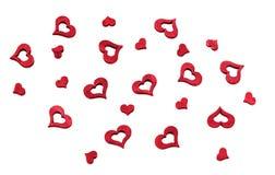 Fond rouge de coeurs Le jour de Valentine Photo stock
