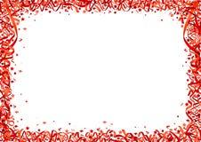 Fond rouge de confettis Photographie stock libre de droits