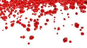 Fond rouge de cristaux Photos libres de droits