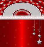Fond rouge de cristmas Illustration Stock