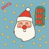 Fond rouge de décoration de présent de vacances de décembre de bonne année de chapeau d'illustration de vecteur de Santa Claus de Image stock