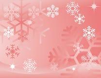 Fond rouge de flocon de neige Images libres de droits
