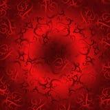 Fond rouge de flourish Image libre de droits