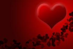Fond rouge de jour de valentines pour le texte d'entrée Photos libres de droits
