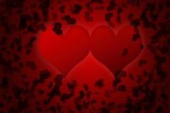 Fond rouge de jour de valentines pour le texte d'entrée Image libre de droits