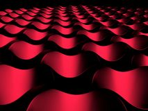 Fond rouge de l'abstrait 3D Photographie stock