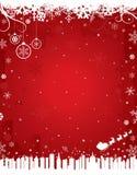 Fond rouge de l'hiver Photographie stock libre de droits
