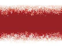 Fond rouge de l'hiver Image libre de droits