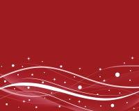 Fond rouge de l'hiver Images libres de droits