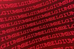 Fond rouge de la Belgique Photographie stock libre de droits