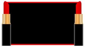 Fond rouge de languette-couleur. illustration libre de droits