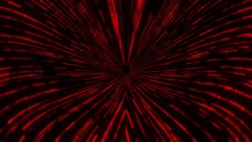 Fond rouge de mouvement de boucle du tunnel VJ de vortex de trou de ver de Matrix banque de vidéos