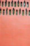 Fond rouge de mur Photographie stock libre de droits