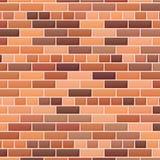 Fond rouge de mur de briques illustration de vecteur
