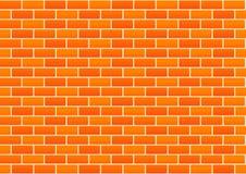 Fond rouge de mur de briques de vecteur Photos libres de droits