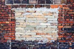 Fond rouge de mur de briques de vieux vintage Photographie stock libre de droits