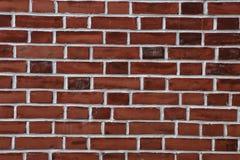 Fond rouge de mur de briques - modèle de texture Photos stock