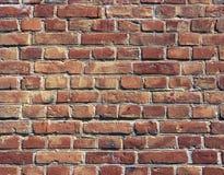 Fond rouge de mur de briques texturisé Image libre de droits