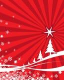 Fond rouge de Noël Photo libre de droits