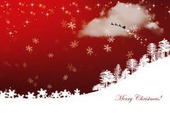 Fond rouge de Noël Photos stock