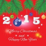 Fond rouge de Noël Image stock