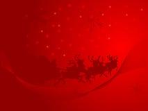 Fond rouge de Noël Photographie stock