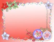 Fond rouge de Noël avec des confettis Photographie stock libre de droits