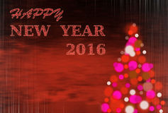 Fond rouge de Noël avec l'écriture 2016 Image libre de droits