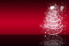 Fond rouge de Noël avec la réflexion Photos libres de droits