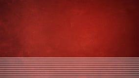 Fond rouge de Noël avec le vignete et le srip Photographie stock