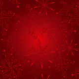 Fond rouge de Noël d'élégance abstraite Photos stock