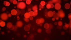 Fond rouge de particules Photographie stock