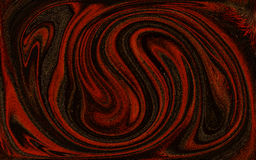 Fond rouge de pirouette de remous de vagues de papier peint abstrait Photo libre de droits