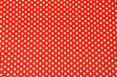 Fond rouge de point de polka Photographie stock libre de droits