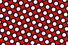 Fond rouge de points de polka Image libre de droits