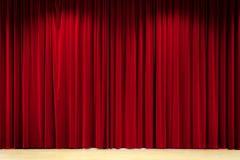 Fond rouge de rideau Photographie stock libre de droits