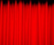 Fond rouge de rideau Images stock