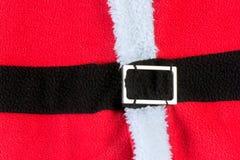 Fond rouge de robe de santacross Images libres de droits