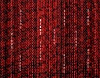 Fond rouge de technologie d'attaque de virus de vecteur, concept de protection de l'ordinateur illustration de vecteur