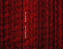 Fond rouge de technologie d'attaque de virus de vecteur, protection de l'ordinateur illustration de vecteur