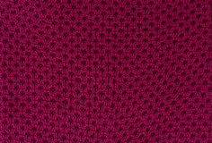 Fond rouge de textile Photographie stock