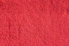 Fond rouge de texture de coton Image libre de droits