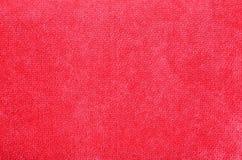 Fond rouge de texture de flanelle photographie stock